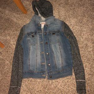Jean/ sweatshirt jacket
